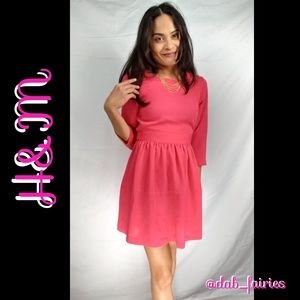H&M Dresses & Skirts - ⬇⬇⬇SALE⬇⬇⬇💜price firm pink dress by h&m