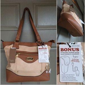 b.o.c. Handbags - B.O.C. Born Concept Doral Tote +Power Bank Handbag