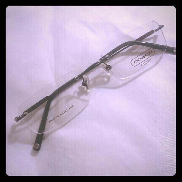 8ce5498143c NEW  COACH Airlock rimless eyewear frames