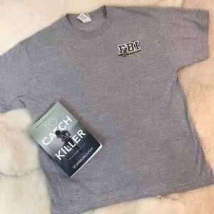 FBI Crime Scene Do Not Cross T-shirt Large RARE