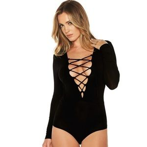 Other - Lace up Neck Bodysuit