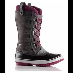 Sorel Shoes - Sorrel Joan of Arctic Knit Boot Shale Gray Purple