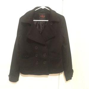 Jackets & Blazers - Black button up blazer top
