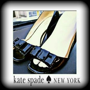 Kate spade peep toe Patent leather bow heel