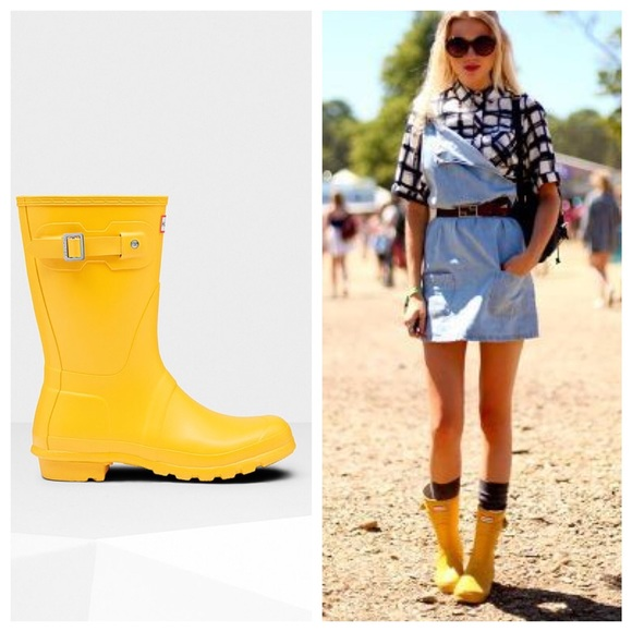 outlet cheap authentic cheap lowest price Hunter Original Short Wellies In Yellow professional sale online free shipping under $60 02uT38psR