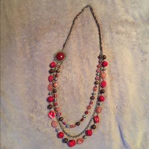 🌺B1G1🌺Multi strand, statement stone necklace