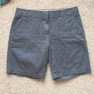NWOT J crew gray chino shorts sz 4