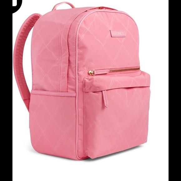f6cf2bbdc4 Vera Bradley Preppy Poly Backpack in Blossom Pink