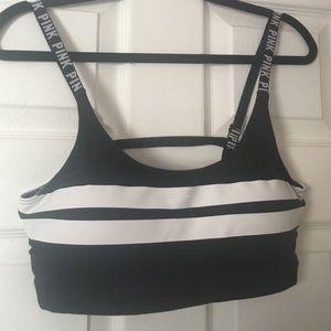 PINK Victoria's Secret Other - VS PINK sports bra logo caged back