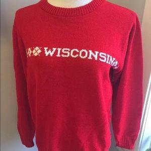 Sweaters - Vintage Wisconsin Badger Knit Sweater sz Medium