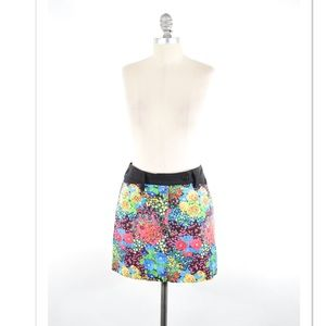 Balenciaga Dresses & Skirts - Balenciaga bright floral stretch Denim mini skirt