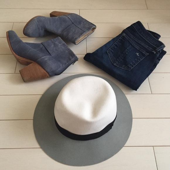 f62cb89e79d Rag   bone white multi wool hat size M new
