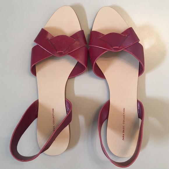 ab93f6b8f01 Leather Zara flat sandals. M 587b9705713fdee1a3006468