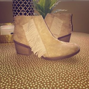 Shoes - Tan Booties-Brand New
