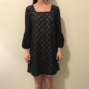 Anna Sui Dresses & Skirts - Anna Sui Anthropologie Black Eyelet Shift Dress