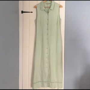 Seafoam Green Linen Dress
