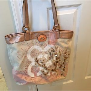 Coach Handbags - Coach coral bling rhinestone worn once