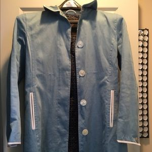 Coach Jackets & Blazers - Baby blue coach trench coat size 6