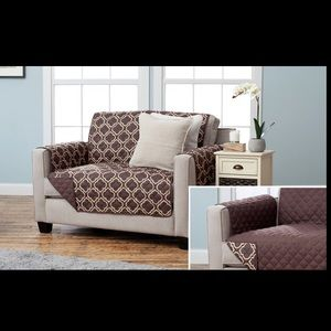 Other - Geometric loveseat cover in chocolate