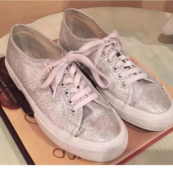 Superga Shoes | Superga Silver Glitter