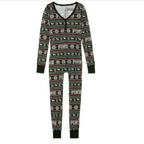 f31b45188 Brand new VS Onesie Thermal Pajamas NWT