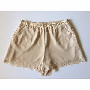 LC Lauren Conrad Scalloped Hem Shorts