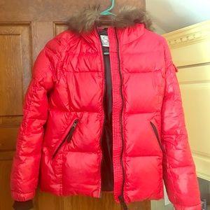 SAM. Jackets & Blazers - SAM red puffer jacket girls 14 fur warm