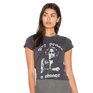 Junk Food Clothing Tops - NWOT Junk Food Give Peace A Chance Tee