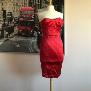 Bebe strapless Karina Dress