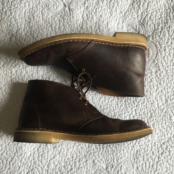 df55d94ada1 Oiled Leather Clarks Desert Boots