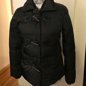 Black Gucci down puffer bamboo closure coat