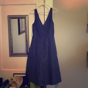 Navy blue taffeta J Crew bridesmaid dress size 4