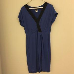 J. Crew Royal Blue w/Black Detail Dress Size 4