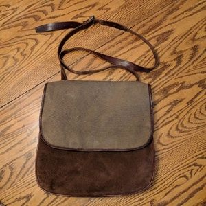 Ellington Other - One-of-a-kind canvas and courderoy suede satchel