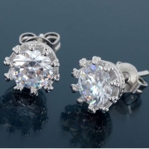 Boutique Jewelry - ⚡️SALE⚡️925 Sterling Silver Crown CZ Stud Earrings