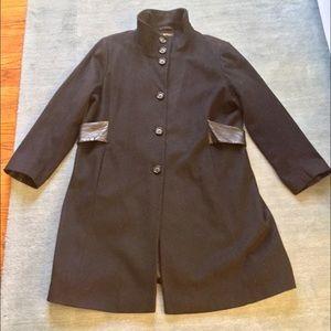 Via Spiga Jackets & Blazers - Via Spiga Black Walking Coat