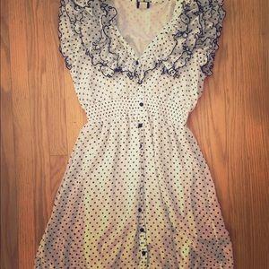 Retro Polka-Dot Dress