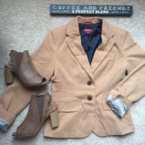 Tan blazer size 4