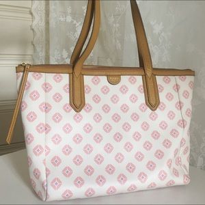 Fossil Sydney Pink patterned Tote