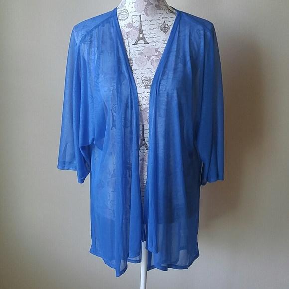 lularoe sweaters nwt blue lindsay sheer cover up kimono poshmark