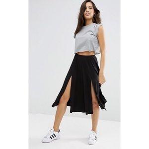 ASOS Midi Skirt with Slits