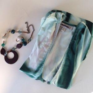Jennifer Lopez Dresses & Skirts - TEAL, WHITE & LILAC JENNIFER LOPEZ FAUX WRAP DRESS