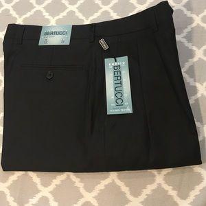NWT Enrico Bertucci Satin Lined Black Trousers