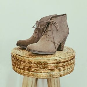 MIA Shoes - 💙HP!💙 NWOB MIA Taupe Suede Lace Up Ankle Booties