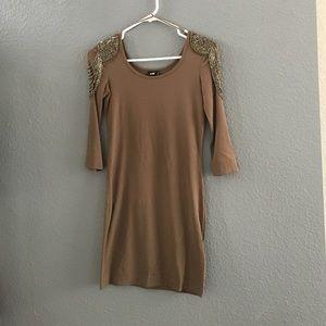 H&M beaded shoulder dress