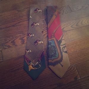 2 Ralph Lauren Equestrian ties