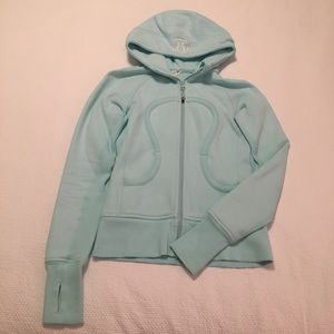 lululemon athletica Jackets & Blazers - Light blue Lululemon scuba hoodie jacket