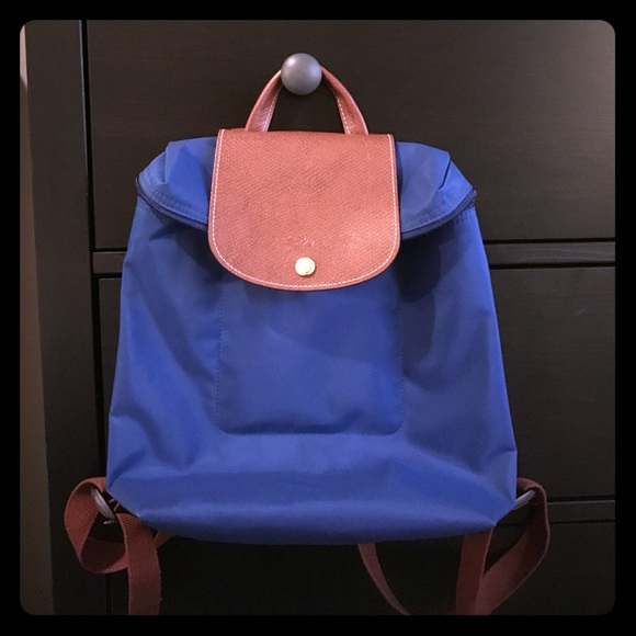 c26a934c0b0 Longchamp Handbags - Longchamp L'pliage backpack in royal blue