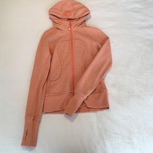 lululemon athletica Jackets & Blazers - Coral colored Lululemon scuba hoodie jacket