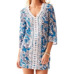NWT Lilly Pulitzer Brooke Tunic Dress - Ariel Blue